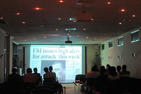 "9/11 Event in Suriname — Watching ""The Great Conspiracy: The 9/11 Newsspecial you never saw."""