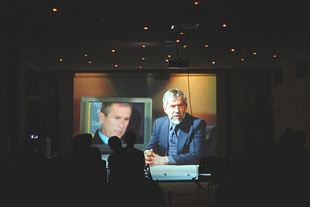 "9/11 Event in Suriname — Watching ""The Great Conspiracy: The 9/11 Newsspecial you never saw"" with Barry Zwicker."