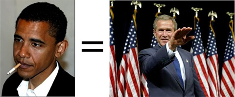 Barack Obama, The New Bush. Sieg Heil.