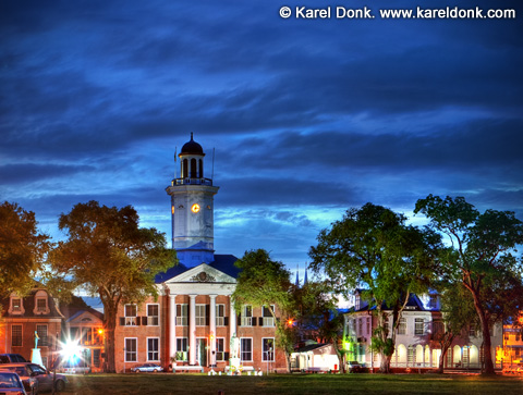 HDR Panoramic view of the Ministry of Finance building in Paramaribo, Suriname (click for larger view)