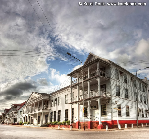 HDR Panoramic view of the Central Bank in Paramaribo, Suriname (click for larger view)