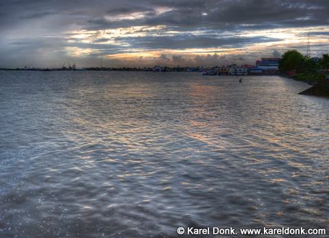 HDR Panoramic view of Paramaribo and the Suriname river (click for larger view)