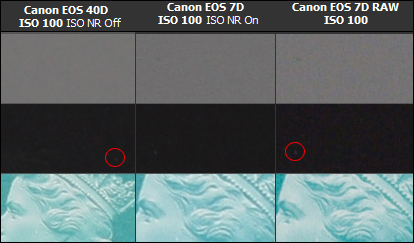Canon EOS 7D and EOS 40D Noise Comparison