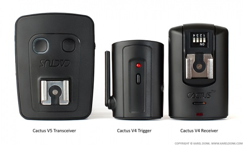 The Cactus V5 Transceiver compared to the Cactus V4 Trigger
