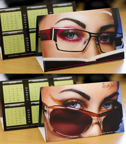 The Optiek Ninon / Instyle Optics 2012 Calendar