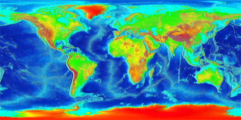 Earth Elevation Map