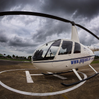 My ride — Robinson R44 from Pegasus Air Services