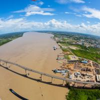 Aerial Photography — The J.A. Wijdenbosch bridge