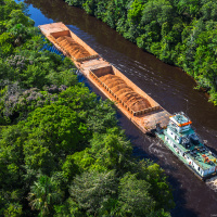 Aerial Photography for JP Knight — Close-up shot of the barges