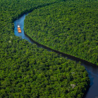 Aerial Photography for JP Knight — Another one of my favorite shots showing how the river cuts through the rainforest