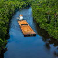 Aerial Photography for JP Knight — A closer view of the barges and the beautiful environment they travel through