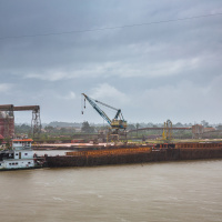 Industrial Photography for JP Knight — Departing in heavy rain
