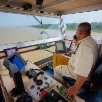 Industrial Photography for JP Knight — On the bridge of the tug Kutari