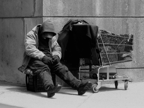 Homeless Man (Photo © Matthew Woitunski)
