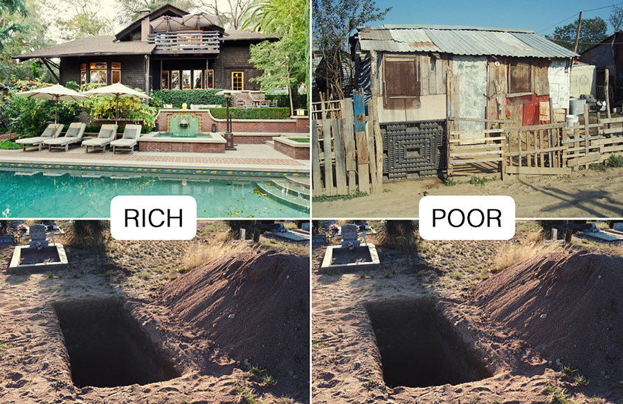 rich versus poor essay Suppose you wanted to study the environmental impacts of a rich versus a poor country what factors would you examine, and how would you compare them.