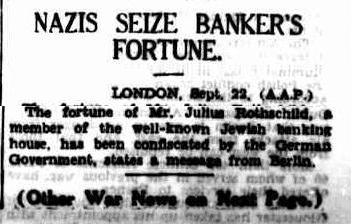Hitler arrested Julius Rothschild