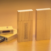 Custom USB Flash Drive — Front and back view.
