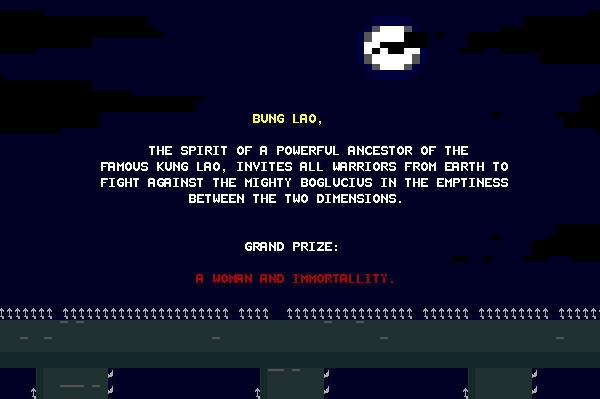 ASCII Kombat — One of the Intro Screens