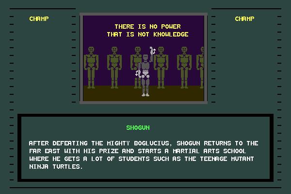 ASCII Kombat — End game screen for Shogun