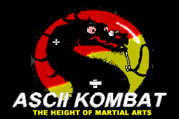 ASCII Kombat — The ASCII Kombat Splash