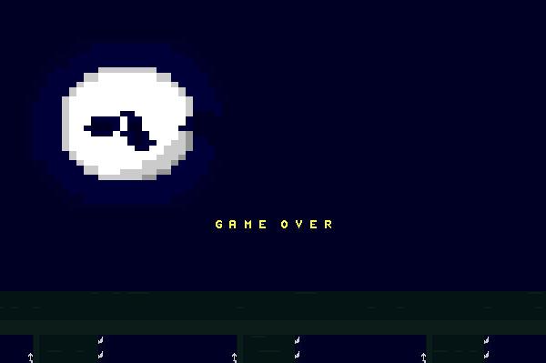 ASCII Kombat — Game Over screen